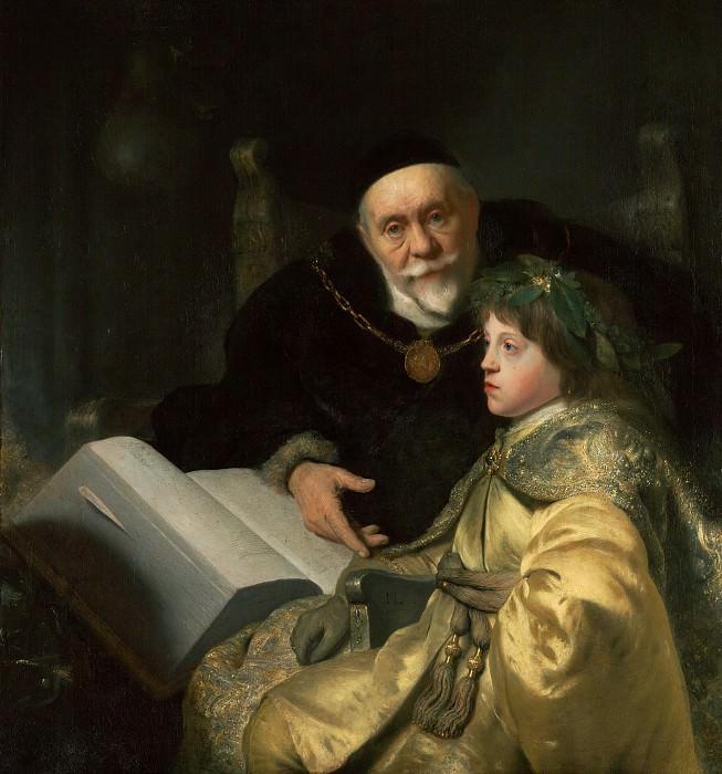 Ливенс Ян (1607 Лейден - 1674 Амстердам) - Принц Карл Луи Палатинский с учителем (103х96 см) 1631. Музей Гетти