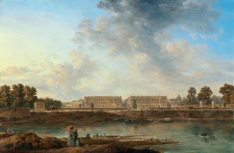 Ноэль Александр-Жан (1752 Бри-Комте-Робер - 1834 Париж) - Площадь Людовика XV (ныне площадь согласия) (50х75 см) 1775-87. Музей Гетти