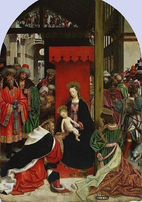 Феррари Дефенденте (Кивассо, близ Турина раб ок1500-1535) - Поклонение волхвов (262х186 см) ок1520. J. Paul Getty Museum