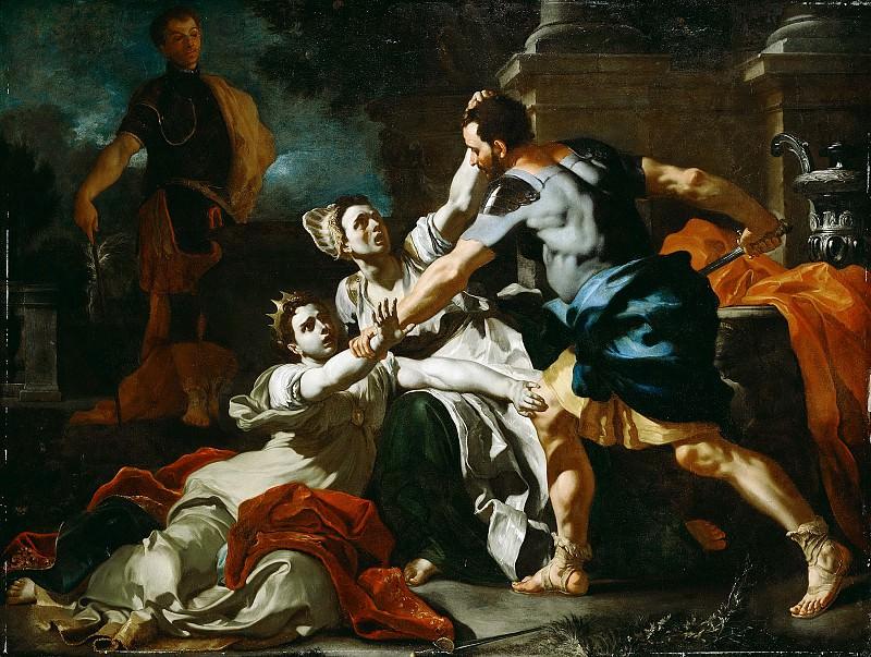 Солимена Франческо (1657 Ночера-ди-Пагани - 1747 Барра близ Неаполя) - Смерть Мессалины (165х224 см) ок1708. Музей Гетти