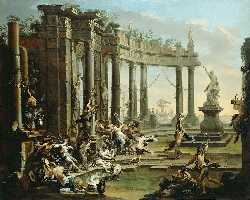 Маньяско Алессандро (прозв Лиссандрино) (Генуя 1667-1749) - Вакханалия (118х148 см) 1720-е. J. Paul Getty Museum