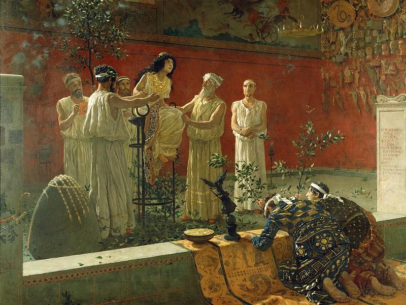 Миола Камилло (прозв Бьякка) (Неаполь 1840-1919) - Провидица (108х143 см) 1880. J. Paul Getty Museum
