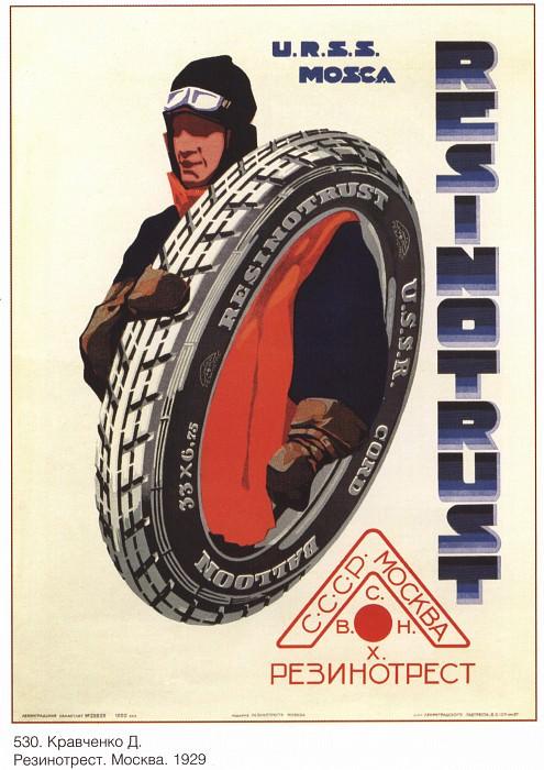 Rezinotrest. Moscow. (Kravchenko D.). Soviet Posters
