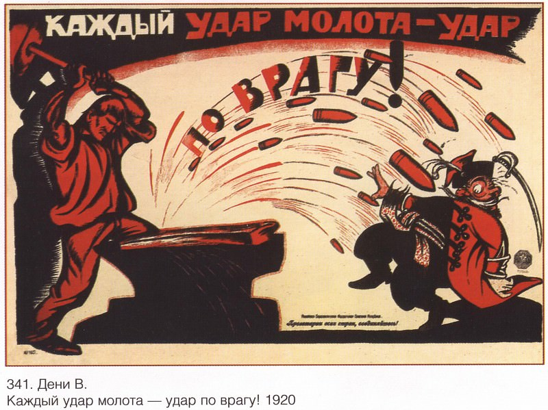 Every hammer blow is a blow to the enemy! (Denis V.). Soviet Posters