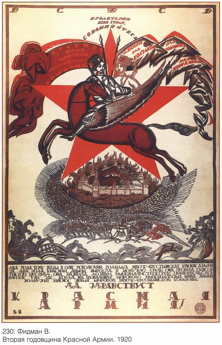 The second anniversary of the Red Army. (Fidman V.). Soviet Posters
