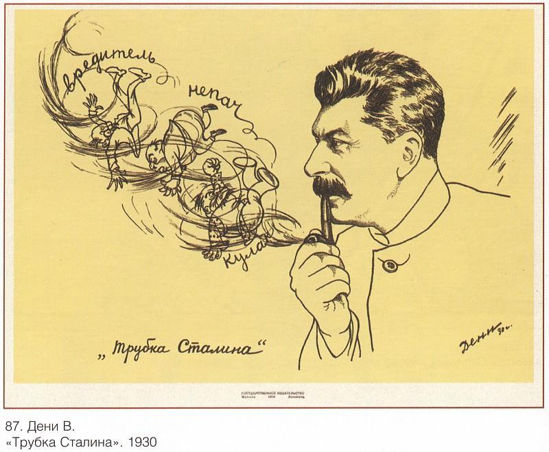Stalin's pipe (Deni V.). Soviet Posters