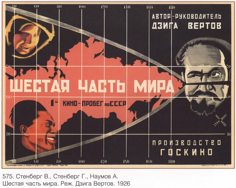 The sixth part of the world. Director Dziga Vertov (Stenberg V., Stenberg G., Naumov A.). Soviet Posters
