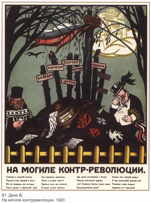 On the grave of counterrevolution (Denis V.). Soviet Posters