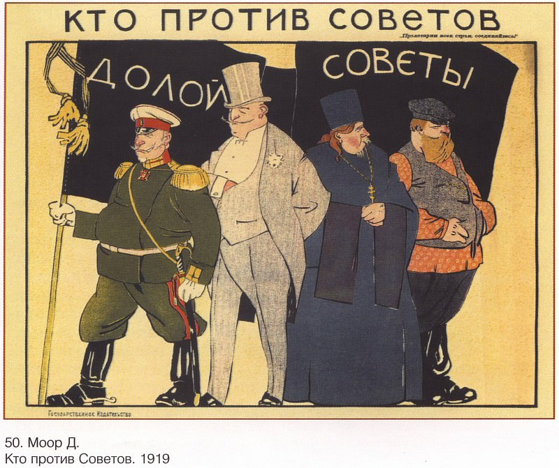 Who against the Soviets. (Moore D.). Soviet Posters