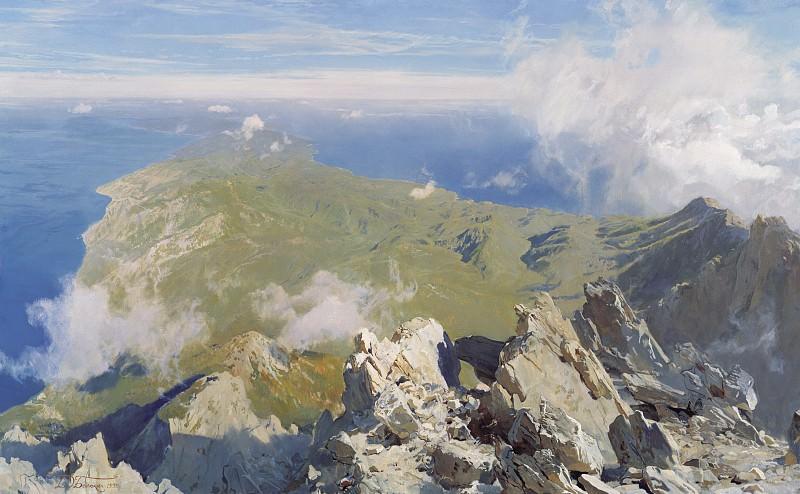 Панорама Афона с вершины Святой Горы. часть 1 - русских и советских худ Русские и советские художники