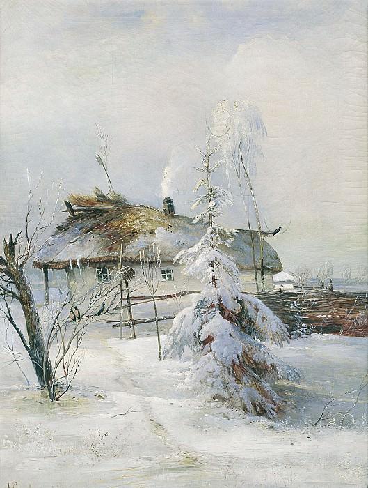 Зима 1873 холст масло 62х53 см. часть 1 - русских и советских худ Русские и советские художники