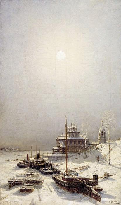 Зима в Борисоглебске Холст масло 119х71 см. часть 1 - русских и советских худ Русские и советские художники