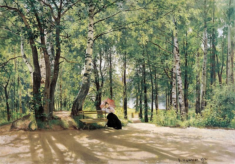 Около дачи 1894 холст масло 74х106 см. часть 1 - русских и советских худ Русские и советские художники