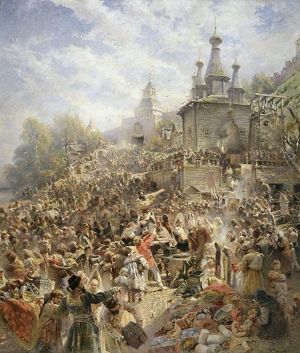 Воззвание Минина Холст масло. часть 1 - Russian and soviet artists Русские и советские художники