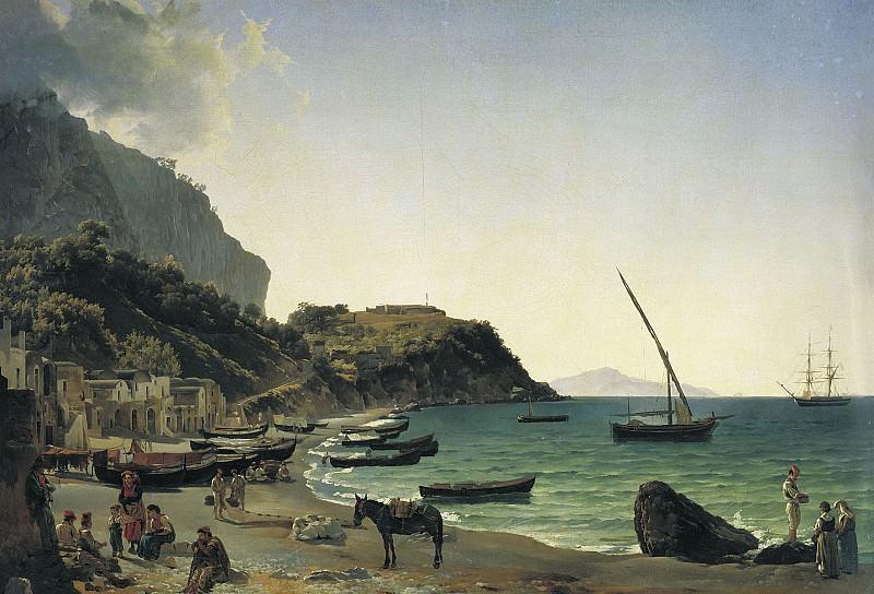 Большая гавань на острове Капри 1828. часть 1 - русских и советских худ Русские и советские художники