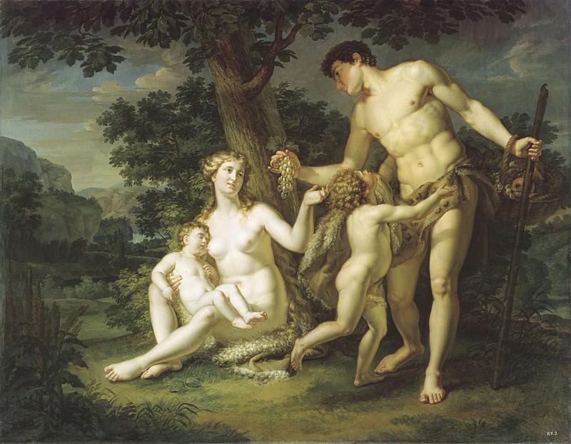 Адам и Ева с детьми под деревом 1803. часть 1 - русских и советских худ Русские и советские художники