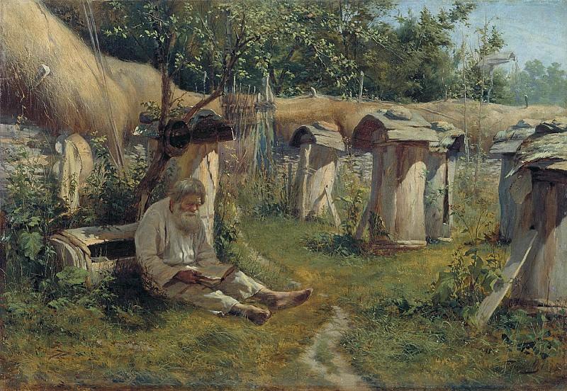 Богатов Николай 1854 1835 Пасечник 1875 Холст масло. часть 1 - русских и советских худ Русские и советские художники
