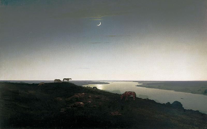 Ночное 1905 1908 холст масло 107х169 см. часть 1 - русских и советских худ Русские и советские художники