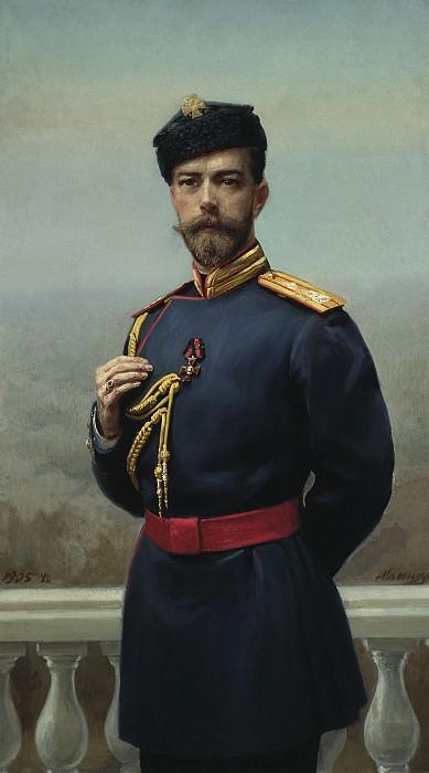 Манизер Генрих 1847 1925 Император Николай II с орденом святого Владимира 1905. часть 1 - русских и советских худ Русские и советские художники