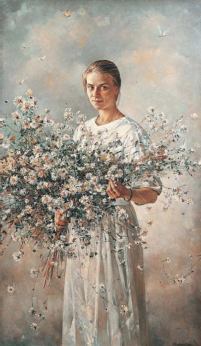 Алена Холст масло 190 х 110 см 1992 г. часть 1 - русских и советских худ Русские и советские художники