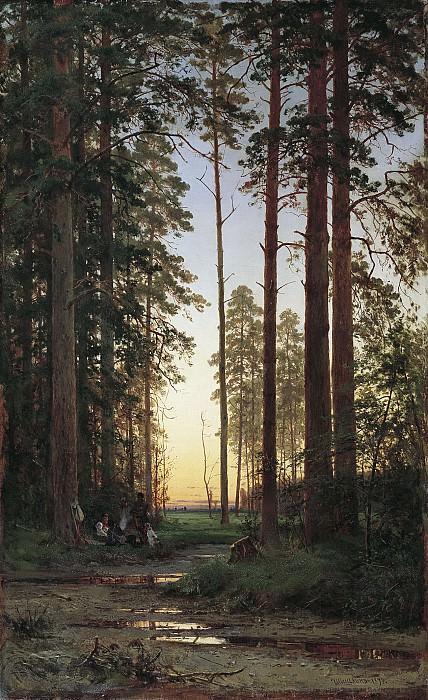 Опушка леса 1879 холст масло 149х90 см. часть 1 - русских и советских худ Русские и советские художники