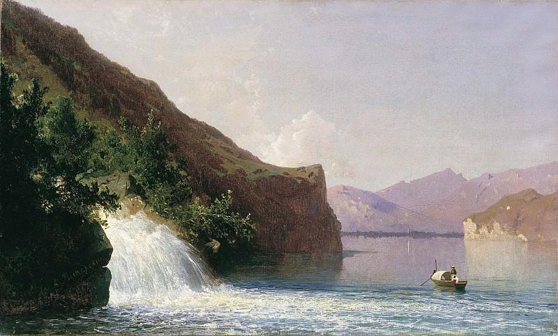Водопад 1867 холст масло 36х59. часть 1 - русских и советских худ Русские и советские художники