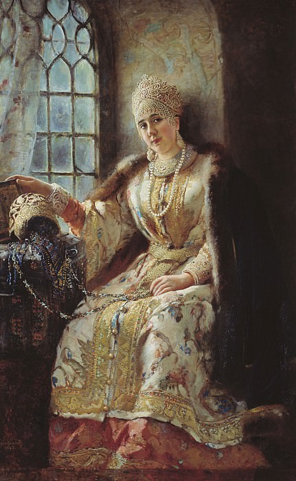 Боярыня у окна 1885 Холст масло 174х117 см. часть 1 - русских и советских худ Русские и советские художники