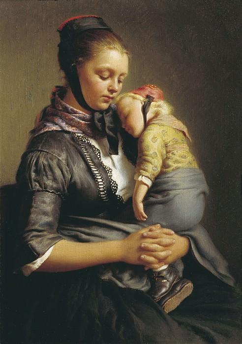Крестьянка из Вилленсхаузена с уснувшим ребенком на руках 1843. часть 1 - русских и советских худ Русские и советские художники