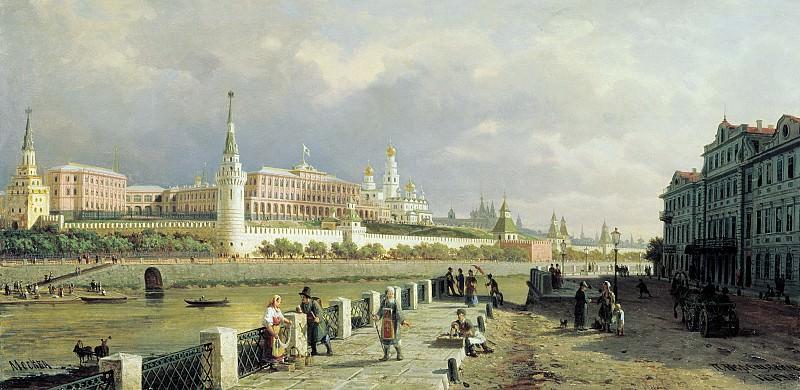 Вид Московского кремля 1879 Холст масло 53х107 см. часть 1 - русских и советских худ Русские и советские художники