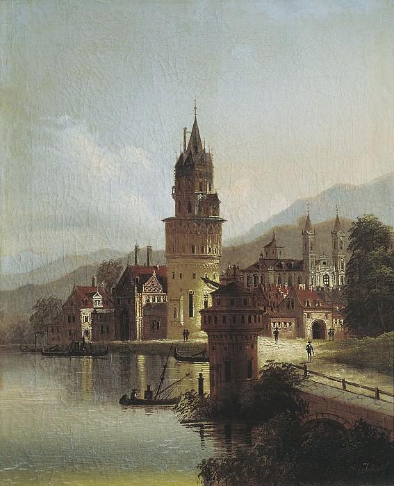 Пейзаж с замком После 1839. часть 1 - русских и советских худ Русские и советские художники