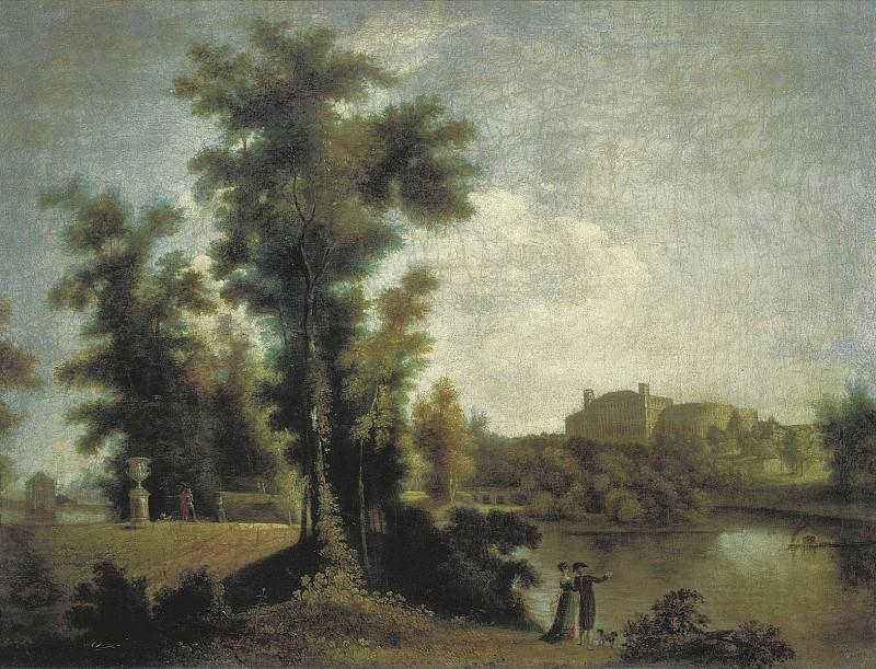 Вид на Гатчинский дворец с Длинного острова 1796. часть 1 - русских и советских худ Русские и советские художники