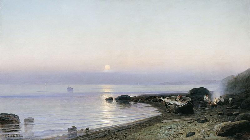 На берегу моря 1882 холст масло 72х128 см. часть 1 - русских и советских худ Русские и советские художники