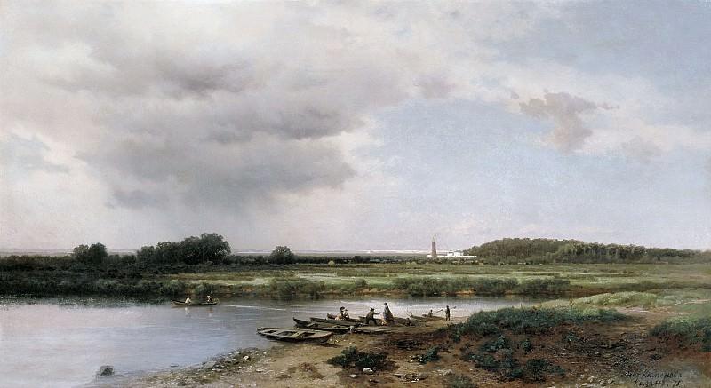 Вид на реку Казанку 1875 холст масло 65х120 см. часть 1 - русских и советских худ Русские и советские художники