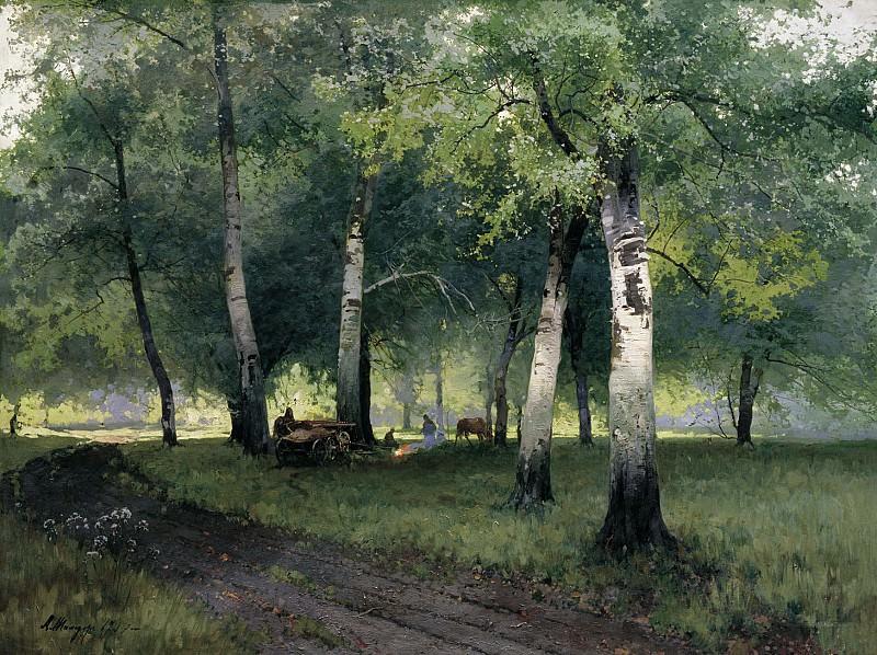 Березовый лес 1908 холст масло 110х143 см. часть 1 - русских и советских худ Русские и советские художники