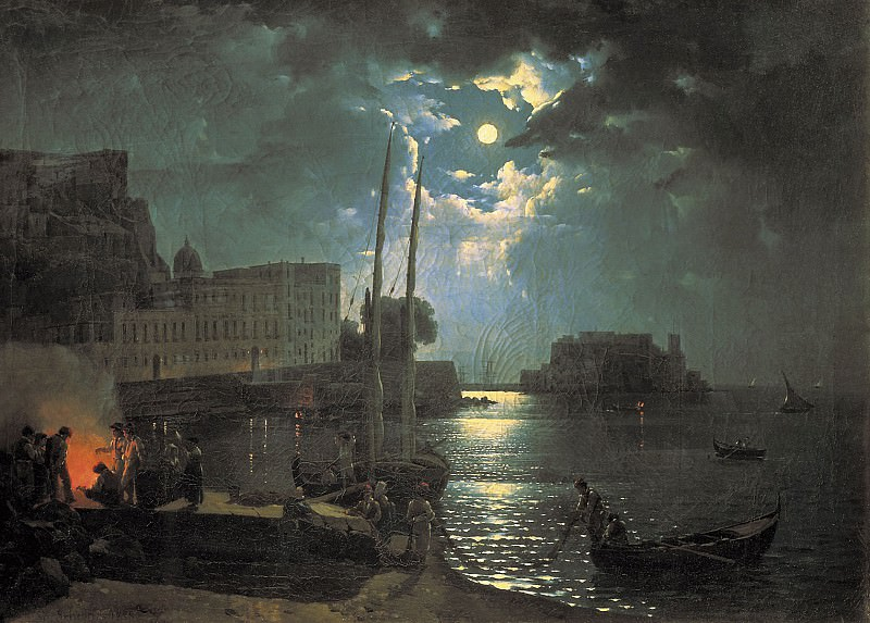 Лунная ночь в Неаполе 1828. часть 1 - русских и советских худ Русские и советские художники