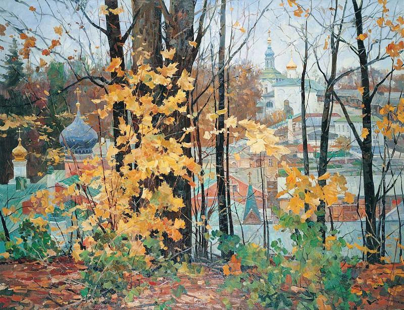 Времена года Осень в Печорах Холст масло 140 х 180 см 1996 г. часть 1 - русских и советских худ Русские и советские художники
