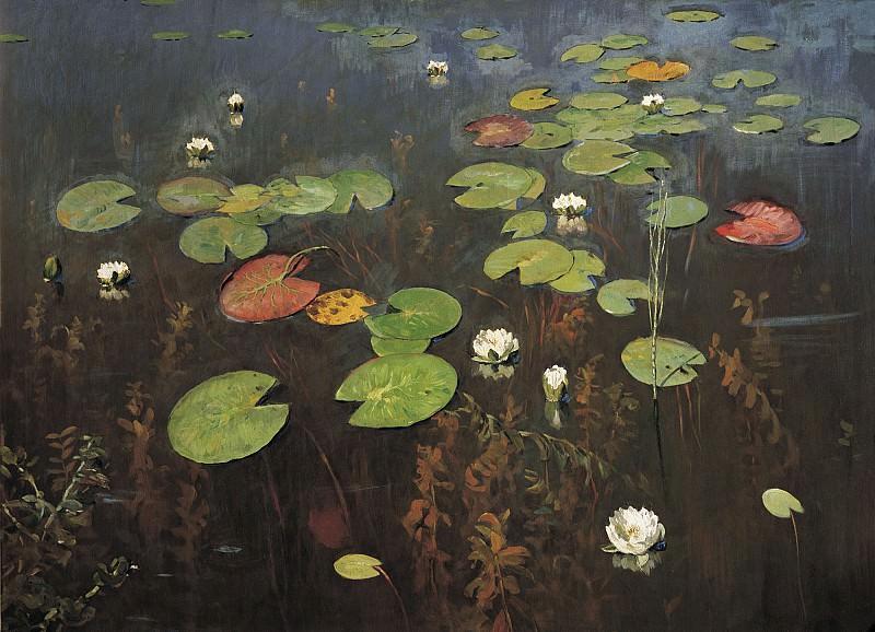 Лилии Ненюфары 1895 холст масло 95х128 см. часть 1 - русских и советских худ Русские и советские художники