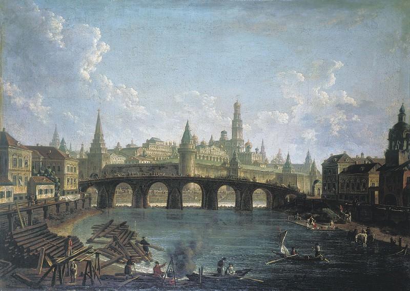 Вид на Московский Кремль со стороны Каменного моста. часть 1 - русских и советских худ Русские и советские художники