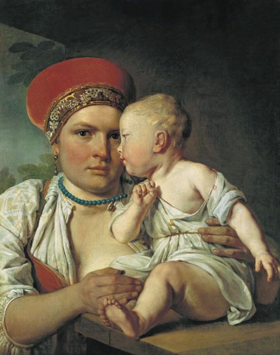 Кормилица с ребенком Начало 1830 х. часть 1 - русских и советских худ Русские и советские художники