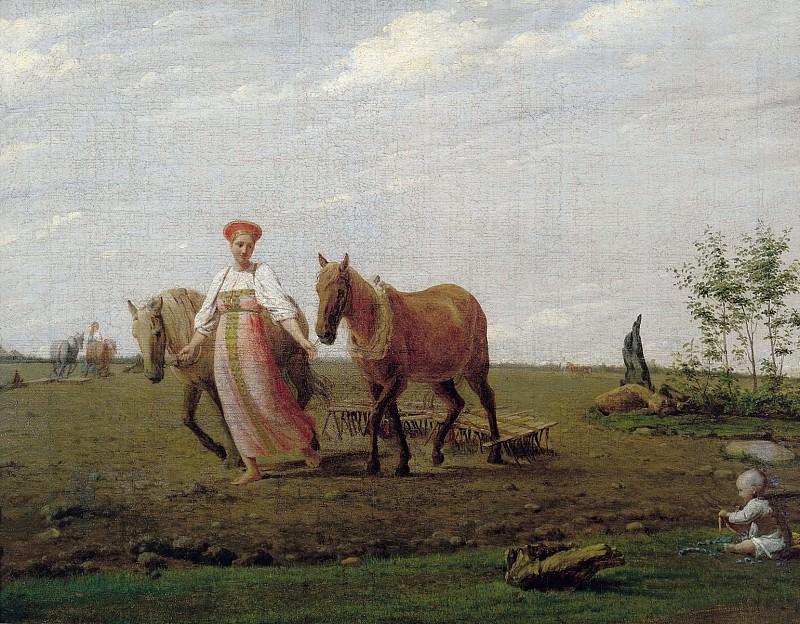 На пашне Весна Середина 1820 х. часть 1 - русских и советских худ Русские и советские художники