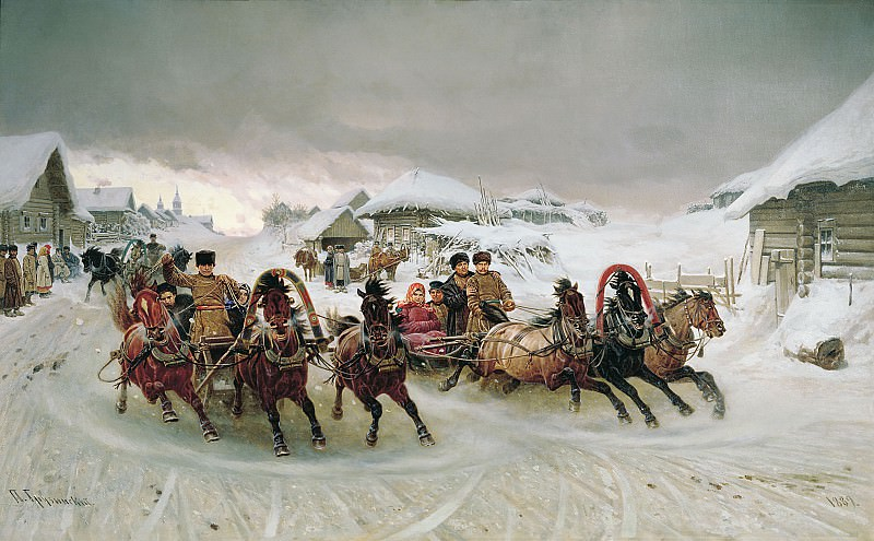 Масленица 1889 холст масло 121х193 см. часть 1 - Russian and soviet artists Русские и советские художники