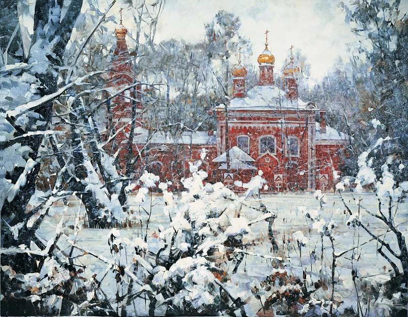 Зима во Владыкино Холст масло 140х180 см 1993 г. часть 1 - русских и советских худ Русские и советские художники