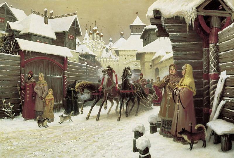 Городская улица XVII века 2004. часть 1 - русских и советских худ Русские и советские художники