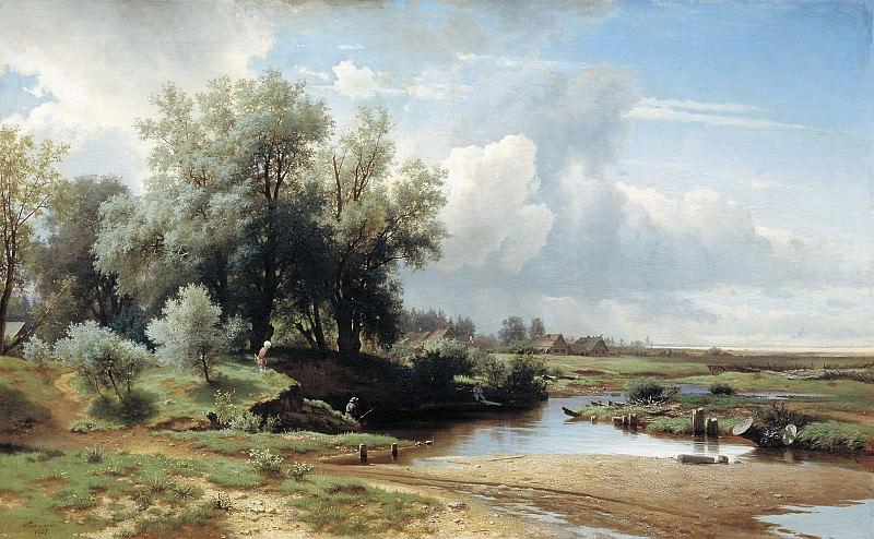 Пейзаж 1861 Холст масло 89х143 см. часть 1 - русских и советских худ Русские и советские художники