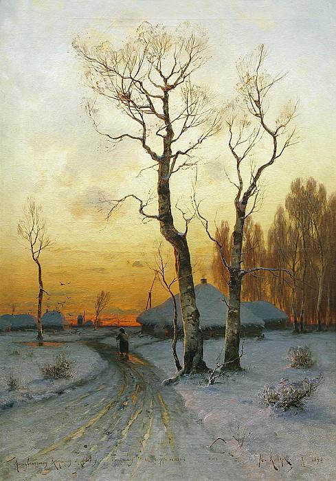 Оттепель 1890 Холст масло. часть 1 - русских и советских худ Русские и советские художники