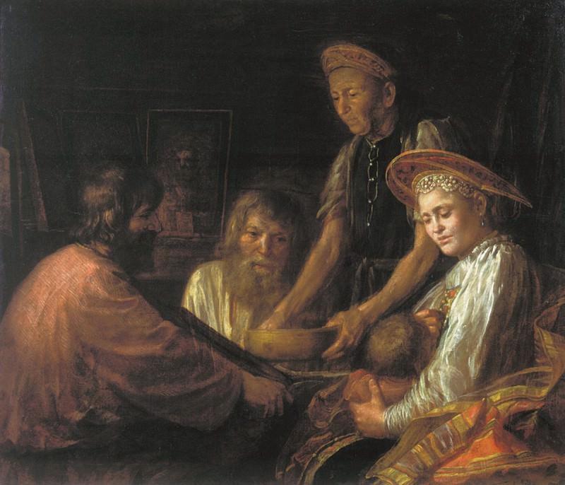 Крестьянский обед 1774. часть 1 - Russian and soviet artists Русские и советские художники