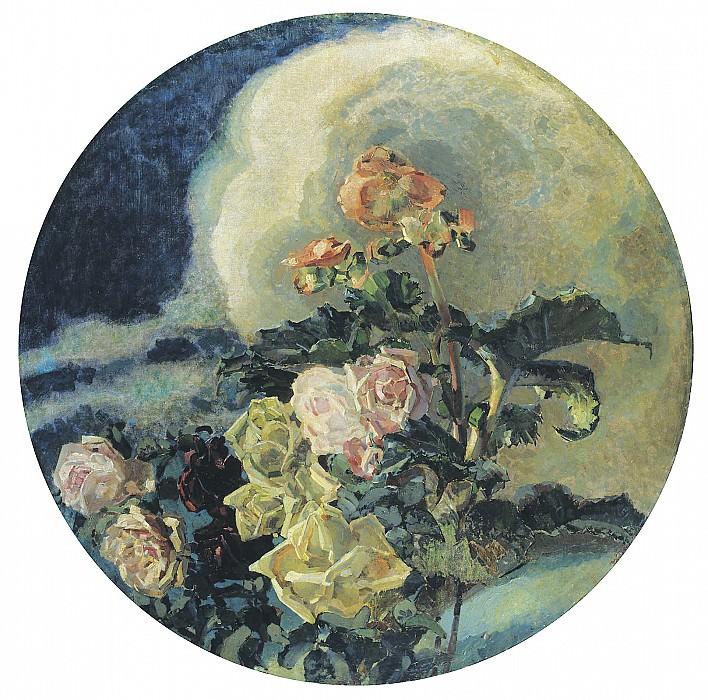 Жёлтые розы 1894 Холст масло. часть 1 - русских и советских худ Русские и советские художники