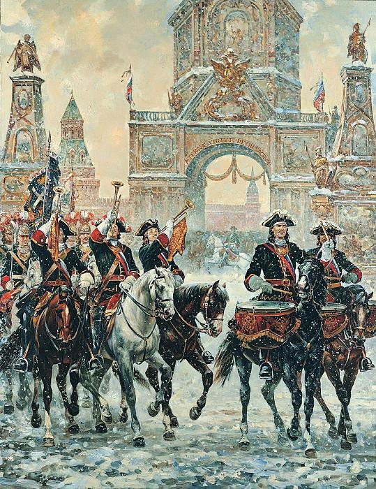 Москва встречает героев Полтавы Холст масло 200 х 150 см 1998 г. часть 1 - русских и советских худ Русские и советские художники