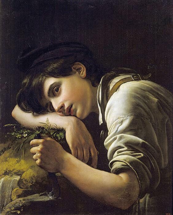 Молодой садовник 1817 Холст масло 62х50 см. часть 1 - русских и советских худ Русские и советские художники