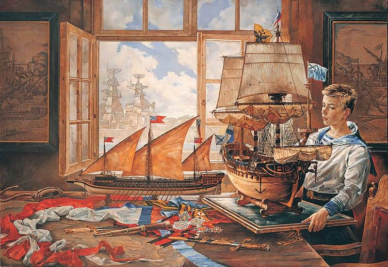 Мечты о флоте Холст масло 160 х 230 см 1996 г. часть 1 - русских и советских худ Русские и советские художники